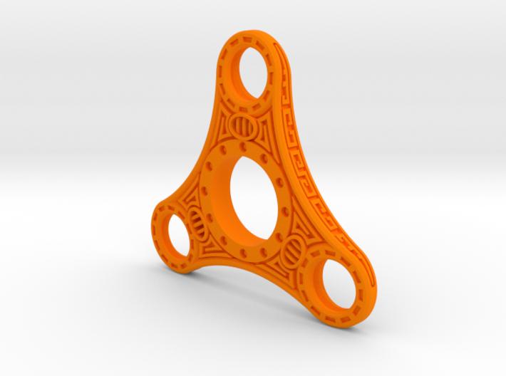 "Skyrim ""Dwemer"" style fidget spinner - Plastic 3d printed"