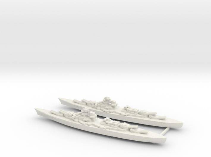 Set of 2 Bismarcks 1/3000 3d printed