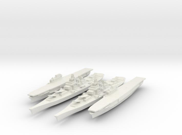 Set of 2 USS Iowa 2 USS Enterprise 1/3000 3d printed