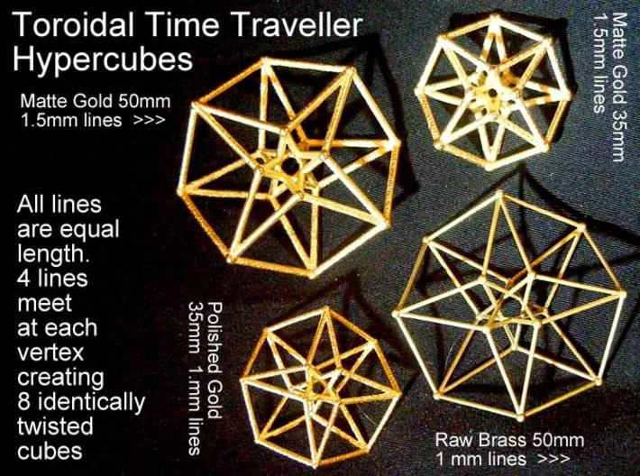 Sacred Geometry: Toroidal Hypercube 50mmx1.5mm  3d printed These variations are all available www.Shapeways.com/shops/SacredGeometryWeb