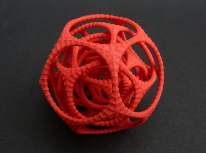 Gyro the Dodo 3d printed Medium in Red Strong & Flexible