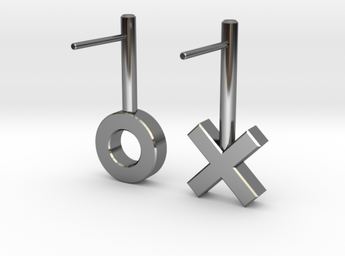 XO Earrings 3d printed