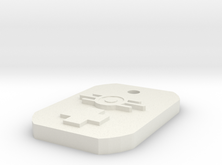 Doctor Dogtag 3d printed