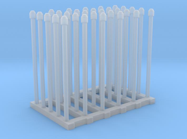 1/144 Fairmile Mushroom Top Stove Pipes x30 3d printed 1/144 Fairmile Mushroom Top Stove Pipes x30
