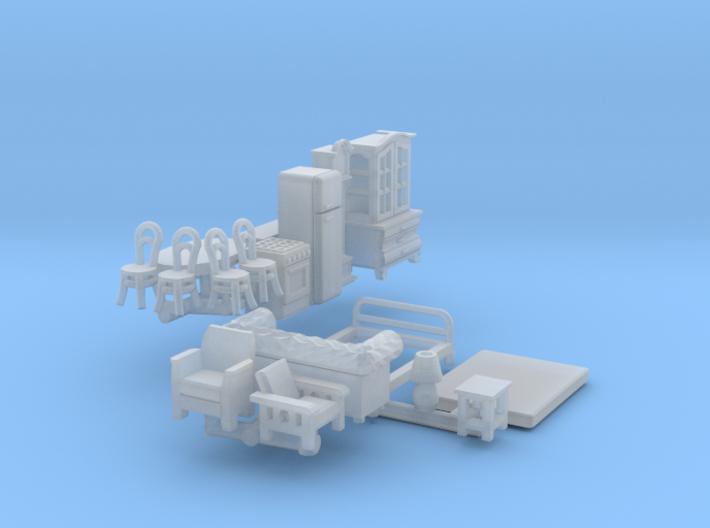 Furniture (N 1:160) 3d printed