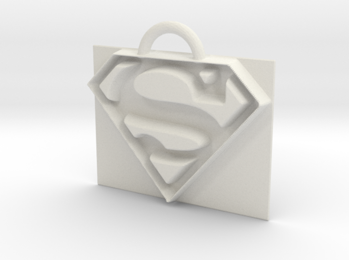 Superman logo 3d printed