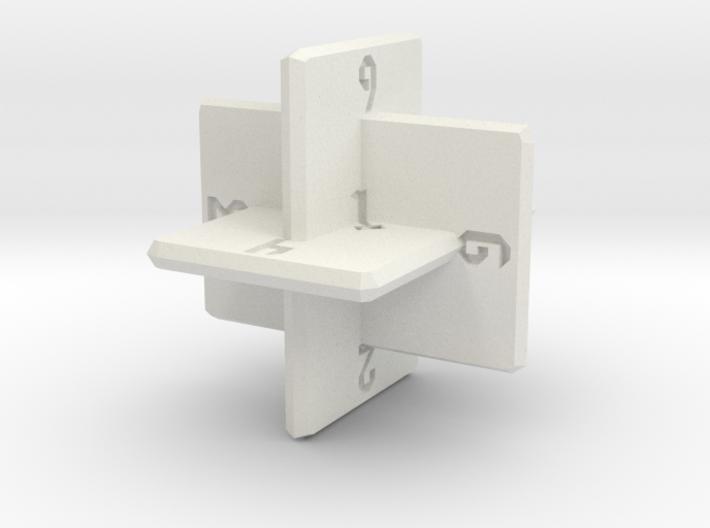Planar d10 3d printed