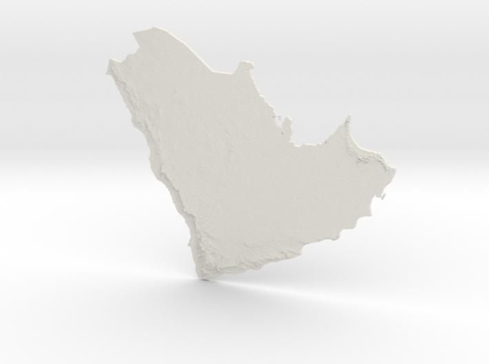 Arabian Peninsula, 1:6000000 3d printed