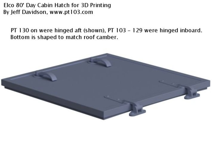 Elco 80' Day Cabin Hatch 24th, Aft Hinged 3d printed
