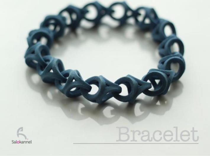 Crossover Thick - Bracelet size S 3d printed Description