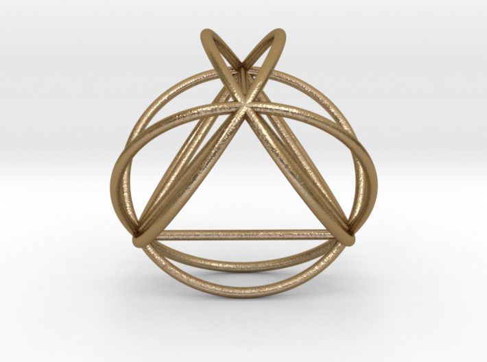 TetraSphere w/nested Tetrahedron 3d printed