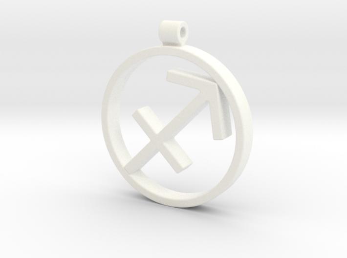 Sagitarius Zodiac Sign Pendant 3d printed