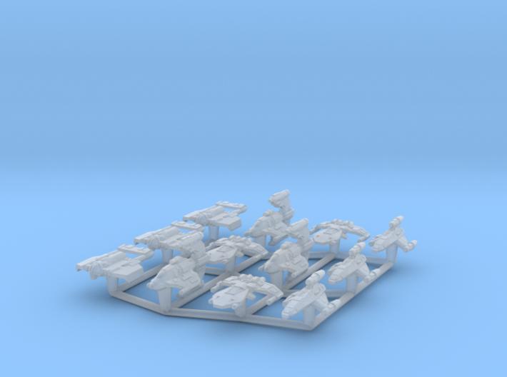 (Armada) Pirate Fighters Set I 3d printed