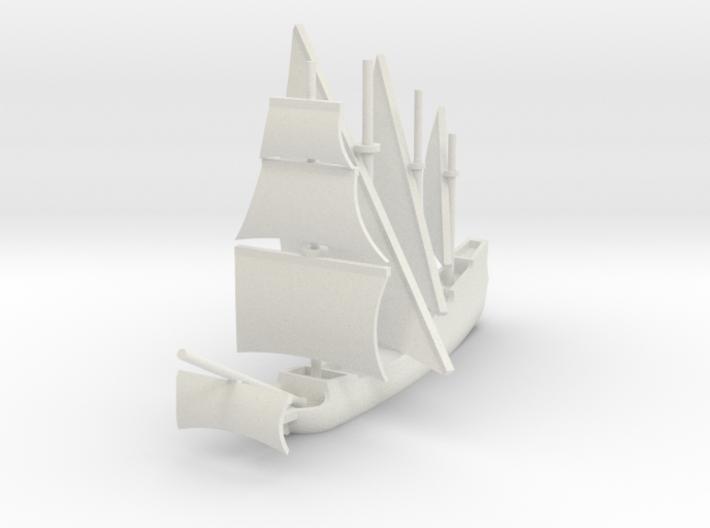 1/700 Caravela de Armada version 3 3d printed