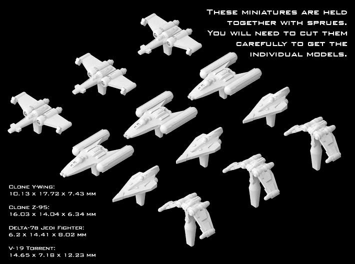 (Armada) Republic Fighters Set II 3d printed