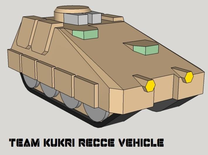 3mm Team Kukri Tracked Armor Sampler (10pcs) 3d printed
