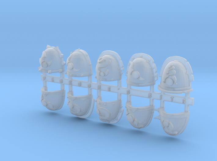 Change Spiked Shoulder Pads x10 3d printed