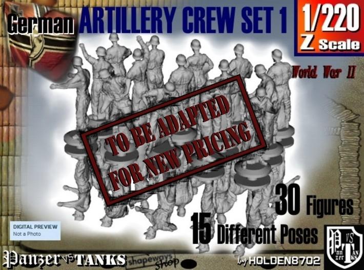 1-220 German Arty Crew Set 1 3d printed