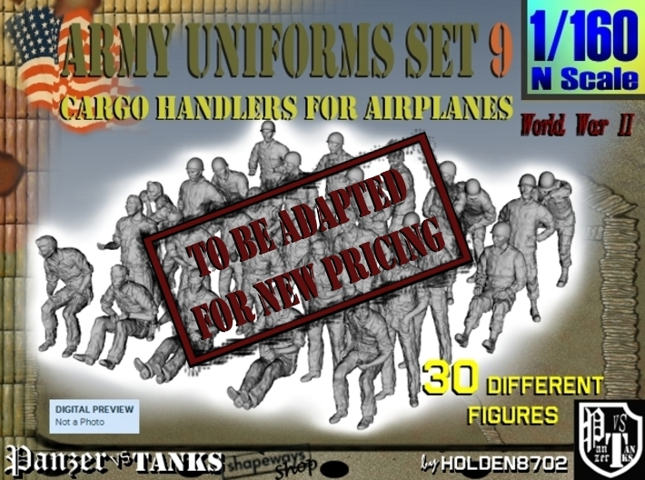 1-160 Army Modern Uniforms Set9 3d printed