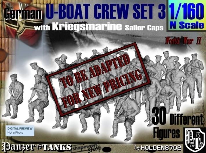1-160 German U-Boot Crew Set3 3d printed