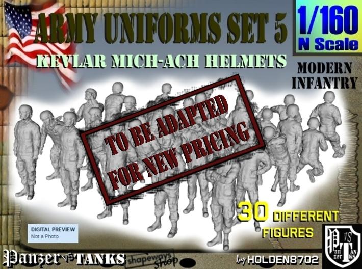 1-160 Army Modern Uniforms Set5 3d printed