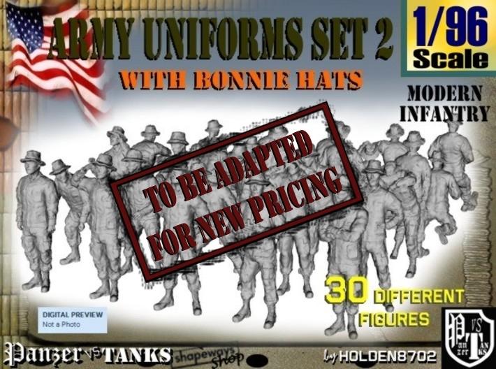 1-96 Army Modern Uniforms Set2 3d printed