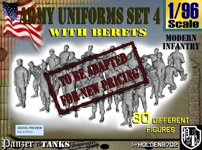 1-96 Army Modern Uniforms Set4 3d printed