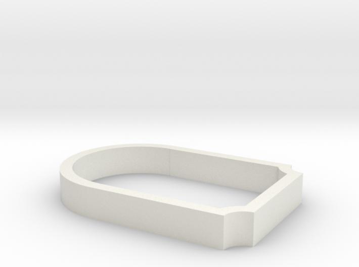 Parkhecke oval gekappt Ecken eingerückt (Buchsbaum 3d printed