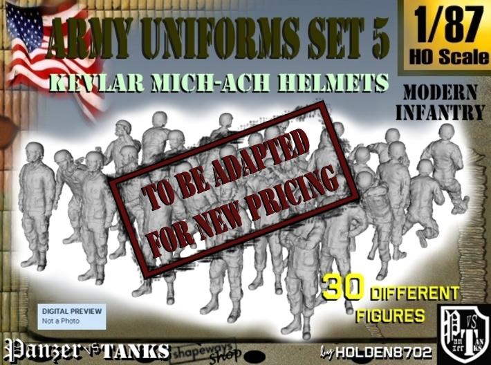 1-87 Army Modern Uniforms Set5 3d printed