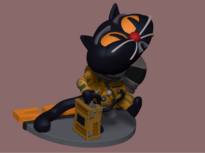 SpyCat Bravo 3d printed This is a render, not an actual cat