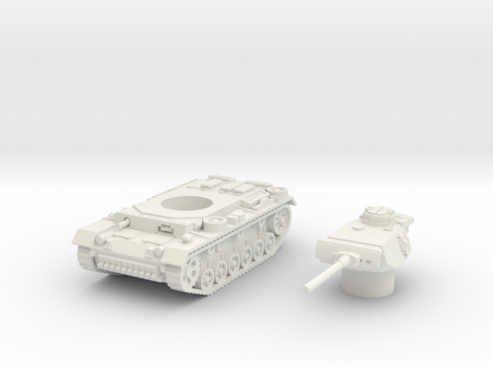 Panzer III L (Germany) 1/100 3d printed