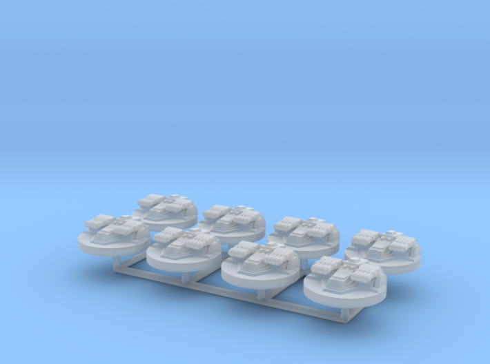 8x Star Destroyer Turret (1/2256) 3d printed