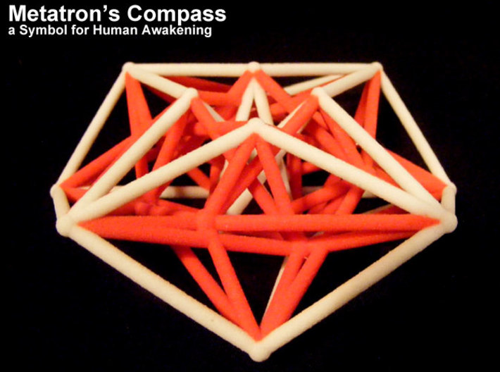 Metarton's Compass 100mm - 4D Vector Equilibrium 3d printed Waiting for a black one to arrive ...