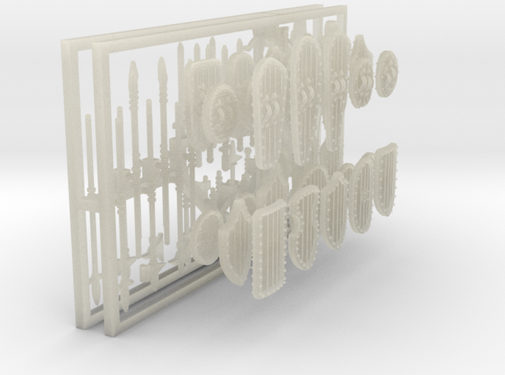1-72 Medieval Weapons Panoply 3d printed