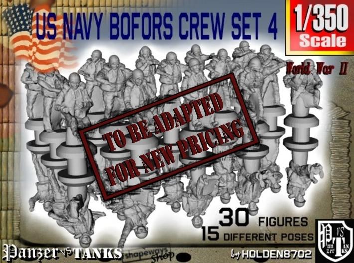 1/350 US Navy Bofors Crew Set 4 3d printed
