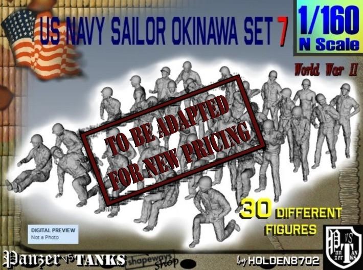 1/160 US Navy Okinawa Set 7 3d printed