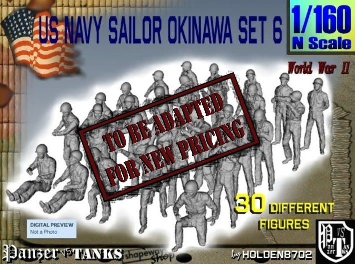 1/160 US Navy Okinawa Set 6 3d printed
