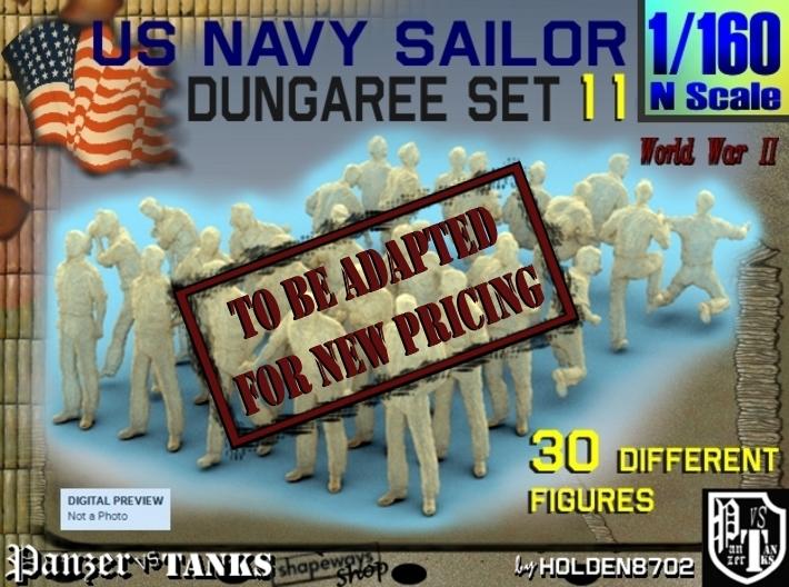 1-160 US Navy Dungaree Set 11 3d printed