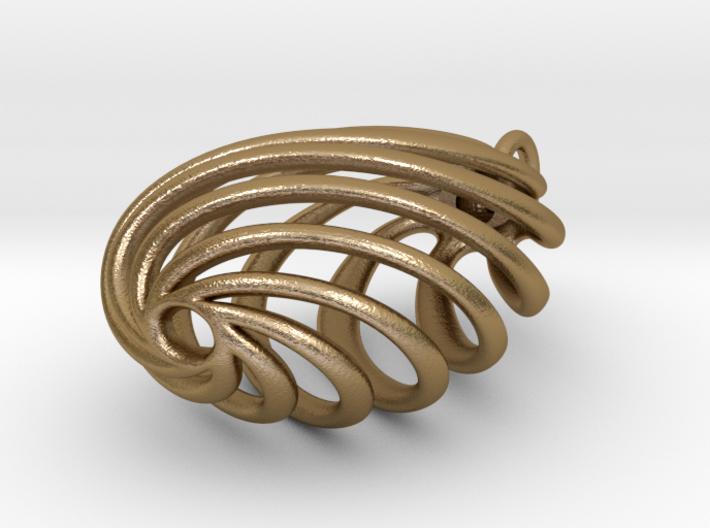 Flasket  - Pendant in metal 3d printed