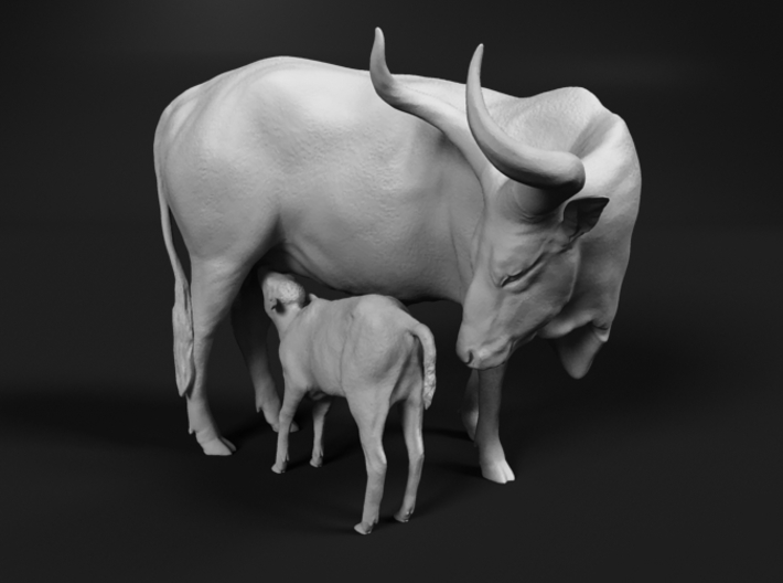 Ankole-Watusi 1:48 Mother and Calf 3d printed