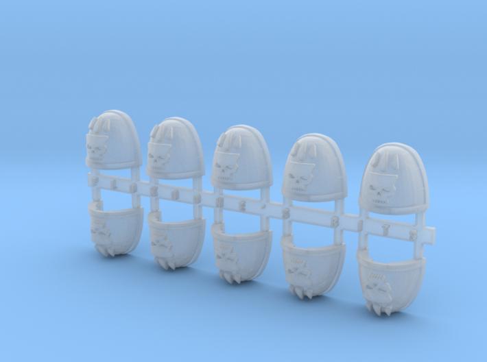 Bloody Skull V.7 Shoulder Pads x10 3d printed