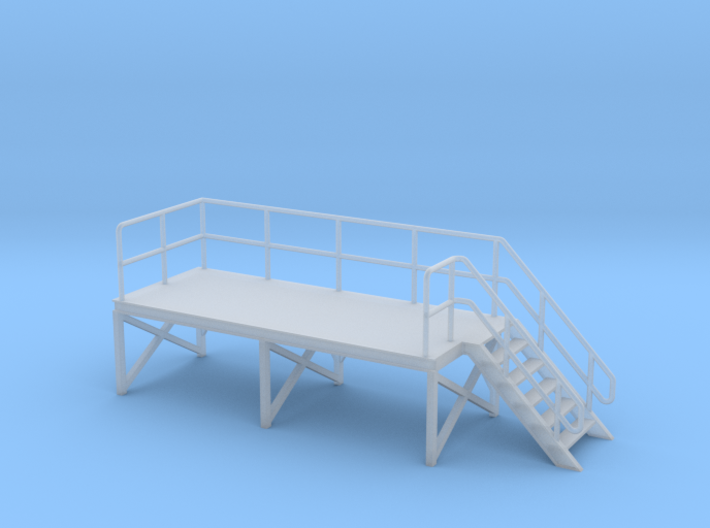 HO Train Crew Platform Stairs Right 3d printed