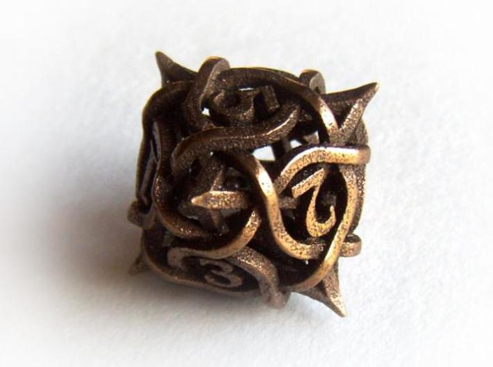 Thorn d8 3d printed In antique bronze glossy