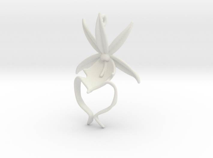 Ghost Orchid Earrings 3d printed