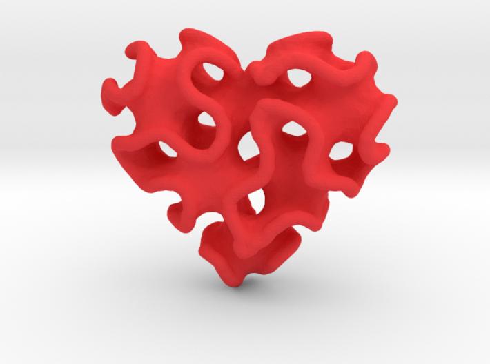 Gyro Heart Pendant 3d printed