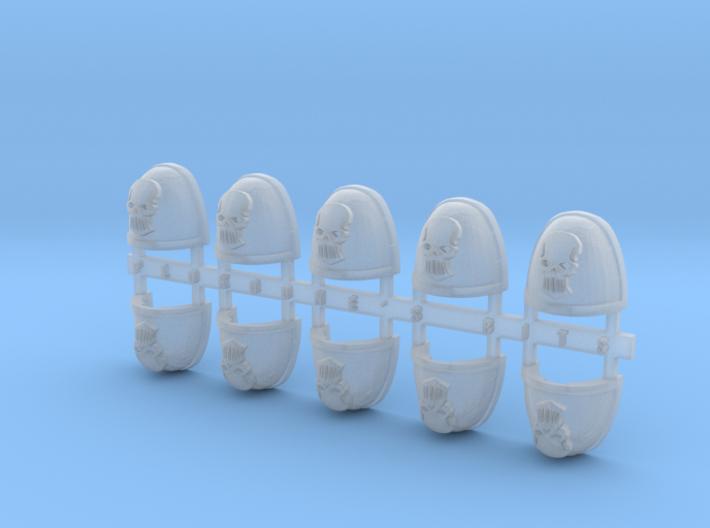 Metal Skull V.7 Shoulder Pads x10 3d printed