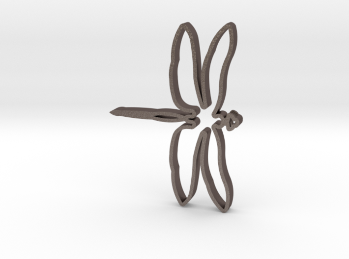 Extruded Dragonfly Pendant 3d printed