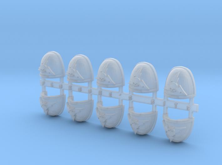 Skull & Lightning 1 V.7 Shoulder Pads x10 3d printed
