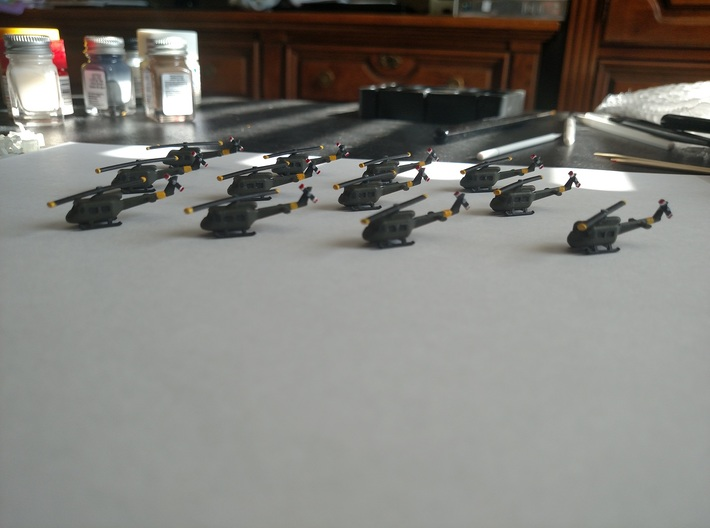 1/500 UH-1 Huey (x12) 3d printed Photo supplied by bcowan1300