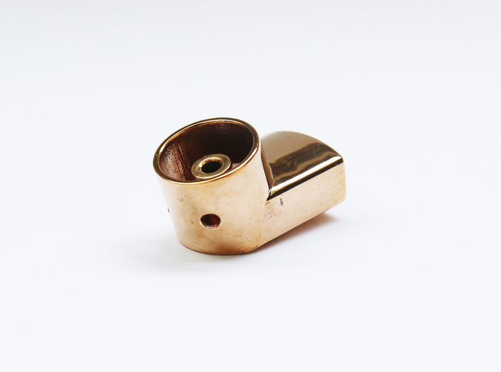 Jewelry-Inhaler Bronze 3d printed